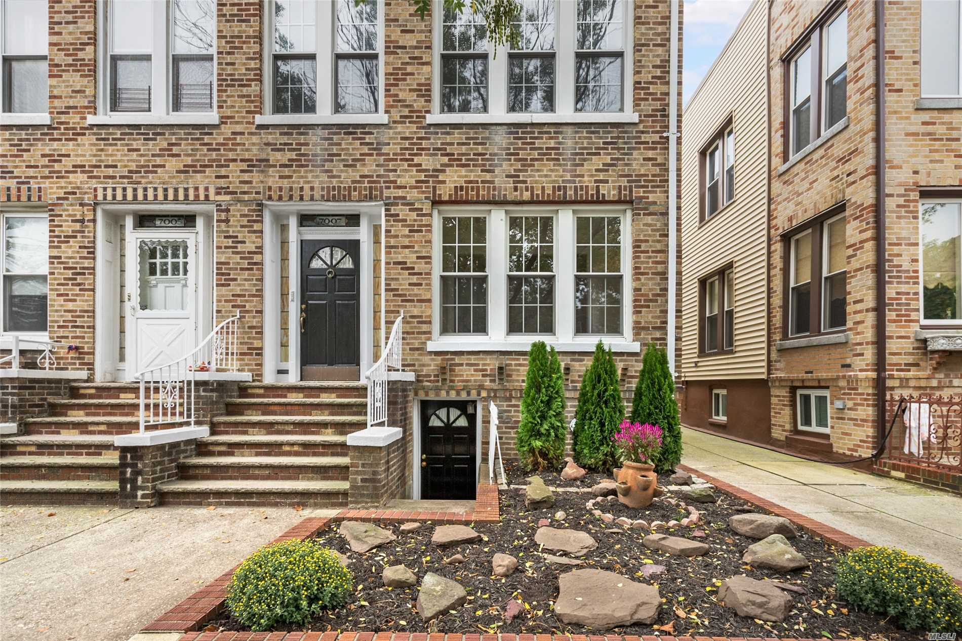 Two Family Semi-Detached Brick House On Colonial Road In Bay Ridge, Brooklyn. Six Rooms Over Five Rooms, Hardwood Floors Throughout, Partially Finished Full Basement, Two-Car Garage And Shared Driveway. Near Public Transportation, Ferries, Express Buses And Major Roadways. Delivered Vacant.