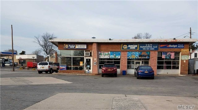 : Prime Highly Visible Multi- 4 Corner Curb Property And An Existing Mechanic Shop With 3 Bays. Used To Be A Gas Station. Directly Next To Optimum Cable Building. Exceptional Upside Potential. Great Site For Medical/Retail/Apartment Development/Bank. Possibilities Are Endless. Strategically Situated On Heavily Traveled Broadway (Route 107) Major Roads/Highways (North