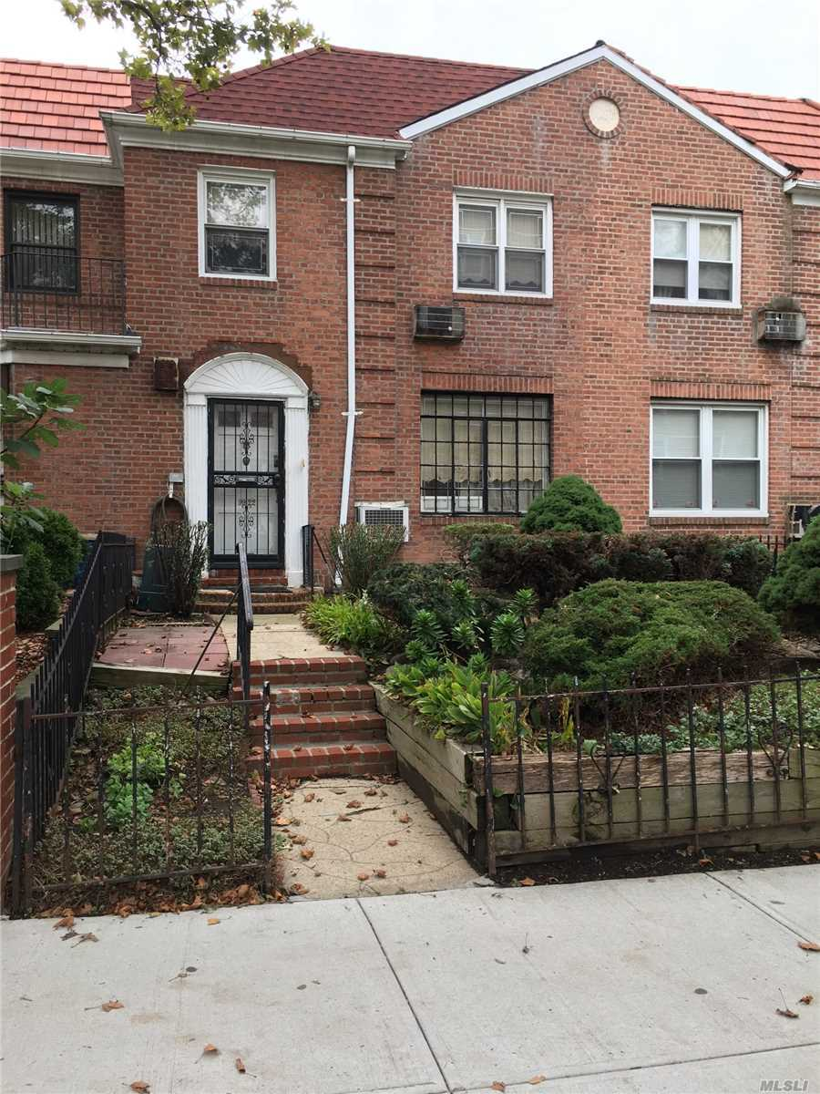 This 1 Family Attached Brick Colonial 20X100 With A Building Size Of 20X35 Is Located In The Prestigious Rego Park Area Just Steps Away From Public Transportation And Major Shopping And Restaurants.This Special Home Has A Master Bedroom Plus 2 Additional Family Bedrooms And 1Full Bath And 1 Half Baths.The House Introduces A Foyer Leading Into A Huge Living Room Which Connects To The Formal Dining Room And Out To The Balcony. The Windowed Eat-In-Kitchen Which Requires Updating Is Perfect