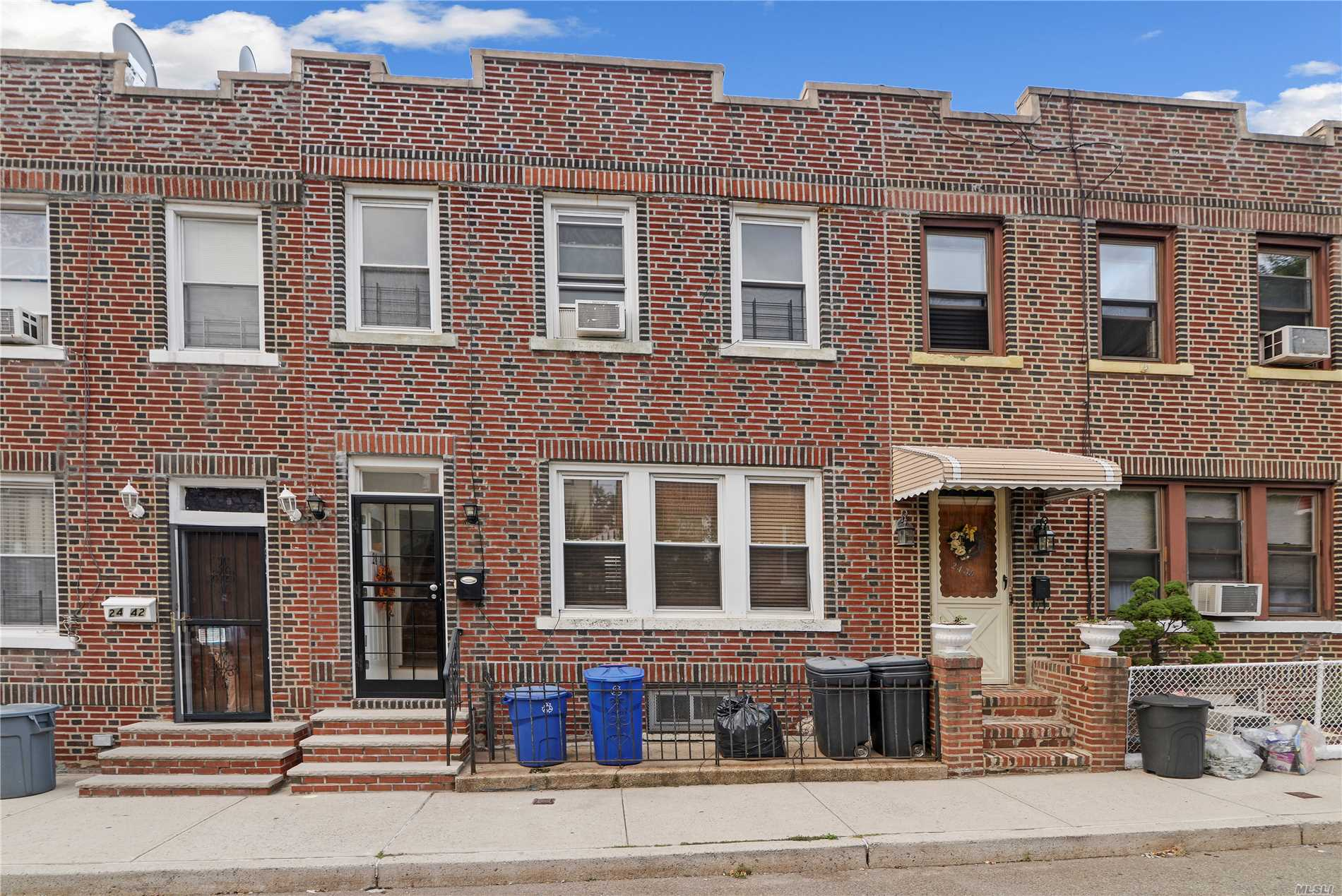 Located 1 Block To Astoria Blvd Train Station This One Family Brick Town Hous3 Offers 3 Bedrooms, A 1 Car Garage, Beautiful Original Parquet Floors, And A Private Backyard Area For Entertaining. Newer Gas Heat And Updated Windows.