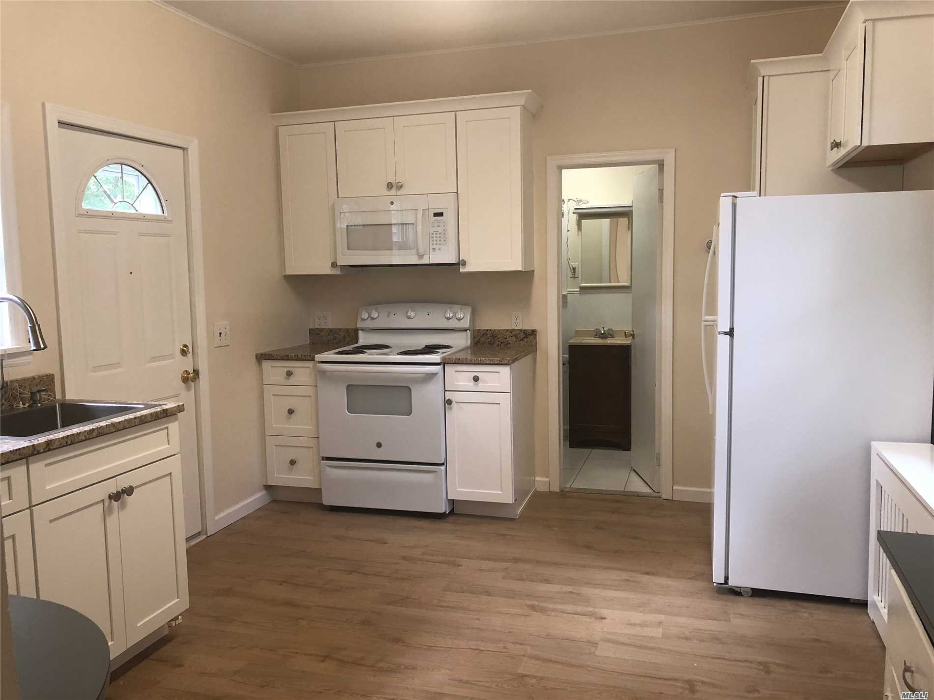 Very Spacious, Completely Renovated 2 Bedroom Apartment Offering A Brand New Kitchen W/ Granite Countertops, Brand New Gleaming Hardwood Floors, 2 Full Bathrooms, Mudroom With Washer And Dryer. Lots Of Closet Space, Ample Parking. Close To The Heart Of Beautiful E. Northport. Non-Refundable Ntn Credit Check Required For All Over 18 Yrs Old