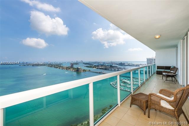 Most Private 2 Br/2 Ba In The Building On High Floor. Unobstructed, Panoramic Views From Every Room And From Private 42 Ft Long Balcony, Which Is Closed Off To Either Side So Neighbors Cannot See You. Ocean And Bay Views From Sunny Isles To Key Biscayne. Special Features: Separate Large Storage Unit ($6000 Value), New Fridge And Front Loader Washer & Dryer, Hardwood Floors In Bedrooms. The Building Is Located In Miami+Ógé¼Gäós Thriving Edgewater District Next To The Venetian Cswy. Walking Distance To A Waterfront Park With Tennis, Volleyball, Basketball, Running & Exercise Paths, Dog Park, And Playground. Easy Access To Restaurants, Grocery Stores, Major Roads And Public Transportation. Amenities Include: Gym, Pool, Hot Tub, Sauna, Party Room, Valet, Concierge. Cable/Internet Included In Hoa.