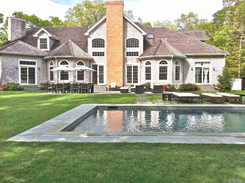 Turn-Key Traditional Hamptons Style Residence On A Pristine And Meticulously Maintained Private 2 Acre Lot In Highly Desirable Hidden Ponds. Boasting 7500 Sqft Of Living Space With 5 Ensuite Bedrooms Including A Spacious 1st Floor Jr Master Suite And 6.5 Baths.Custom Built And Ideal For Entertaining Which Includes A Large Great Room With Soaring Ceiling Heights, Formal Dining, Gourmet Chefs Style Kitchen , Multiple Fireplaces, And French Doors Leading To Your Blue-Stone Patio And Heated Gunite Po
