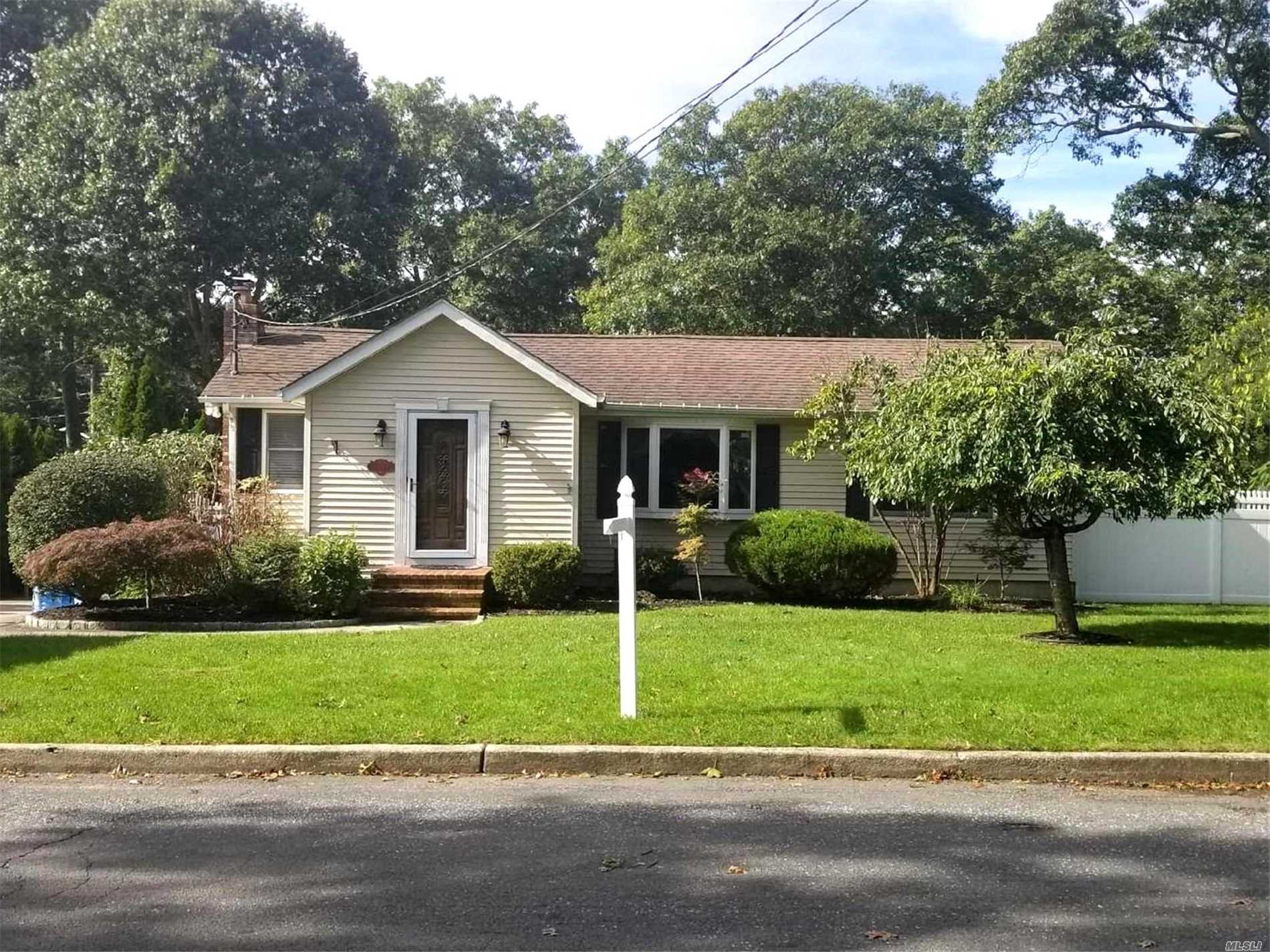 Completely Renovated 3 Bedroom Ranch. Featuring Updated Amazing Custom Kitchen, New 200 Amp Electric, Ig Sprinklers, Vaulted Ceilings, Andersen Windows, Cac & 6 Mouldings, Oversized Maintenance Free Trex Deck, Central Vacuum And More! Sachem Schools! Mortgage Assumable At 3.75%!