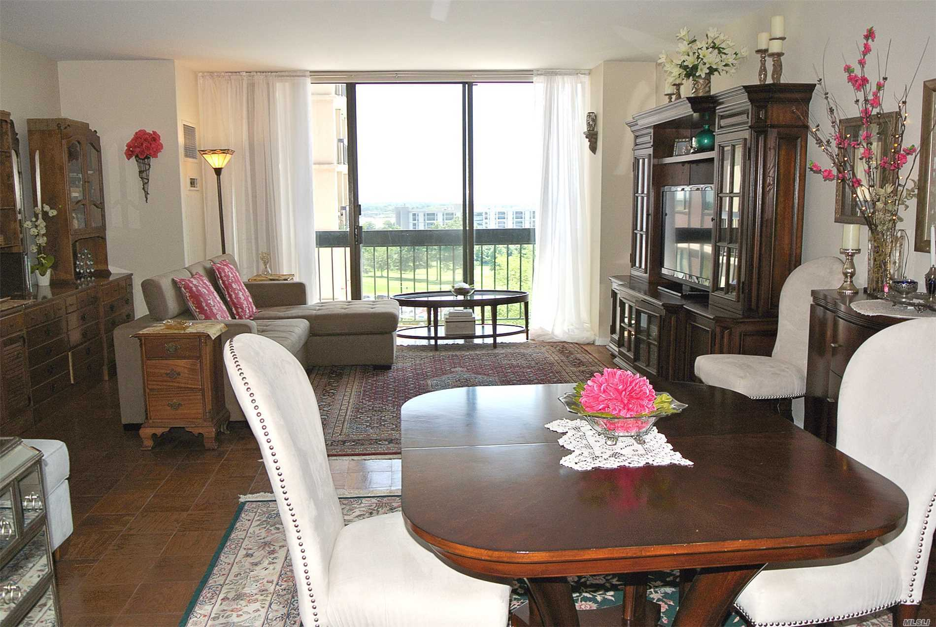 Largest 1 Bedroom! This Sunny And Spacious Layout Has A Wide Living Room With Dining Foyer. Gourmet Kitchen With White Cabinets Including Washer And Dryer. Large Bedroom With Great Closets And Lavish Bath. Magnificent Views Of Golf From Your Balcony. Great Location!!