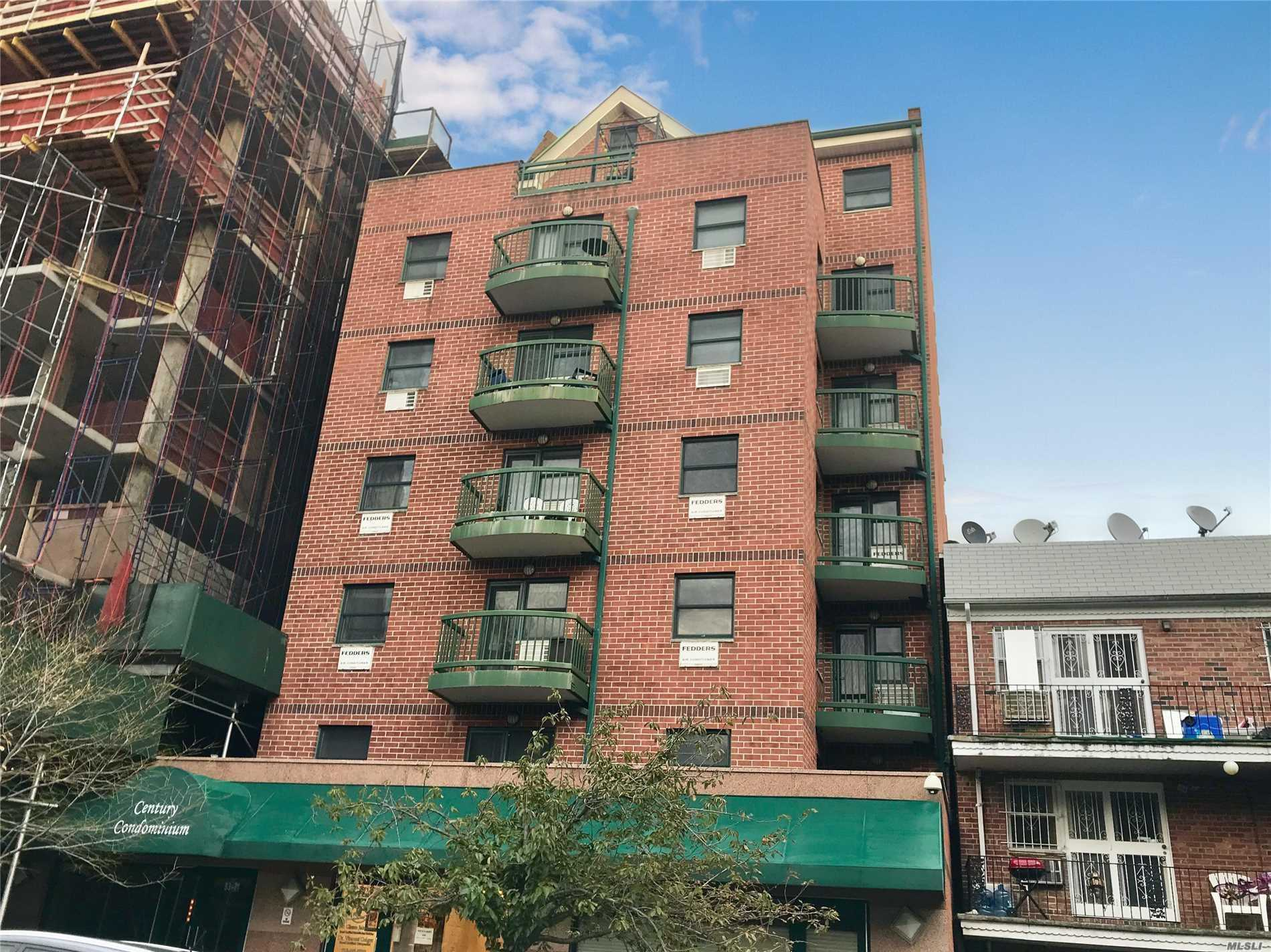 Spacious 13' High Ceiling Condo Studio Apartment In Prime Area Of Kew Gardens Ny. Unit Includes An Indoor Parking Space. Features Eat-In-Kitchen / Maple Cabinetry, Counter Top, Marble Bathroom, Hardwood Floor And Balcony Of Living Room, Bright & Sunny. 24 Hr Camera Security Building, Laundry In Basement.
