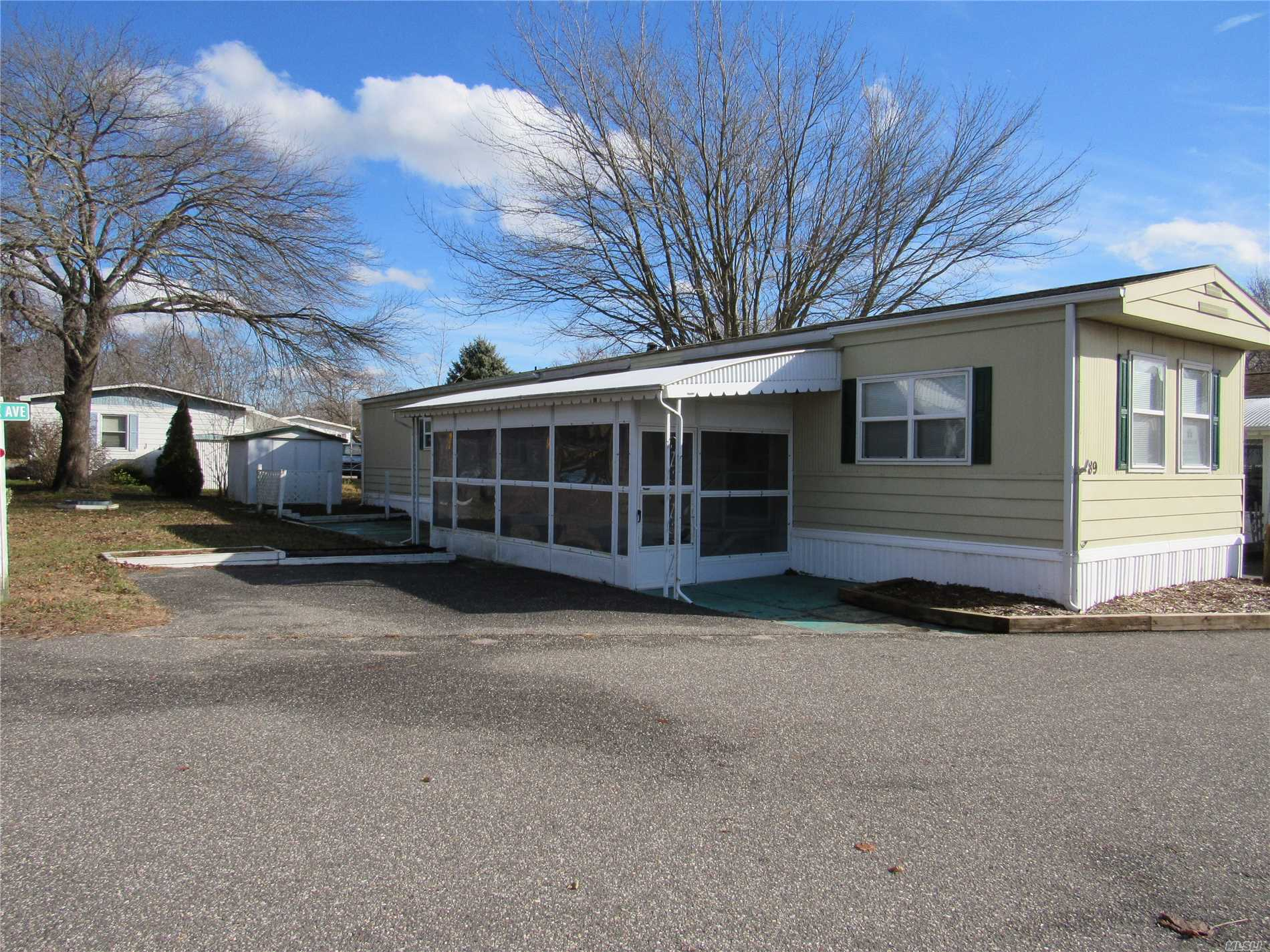 Very Nice 2 Bedrooms, 1 Bath Home Very Bright And Well Kept. Corner Property. Park Rent $683.00 Plus Taxes. 55+ Community.