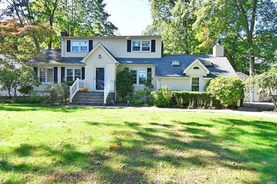 Currier And Ives Inspired Expanded Cape With Loads Of Charm, Spacious New Driveway & Windows, Living Room, Dining Room, Open Family Rm W/ Fplce, Sunny Eik, Home Office, Hdwd Flrs, 3 Bdrms, 2 Full Baths, Great Closet Space, Fin Basement, 220 Amp, Updated Burner, 2 Tier Deck W/ Igp, Fenced Yard, Detached Garage. S. Huntington Sd #13.