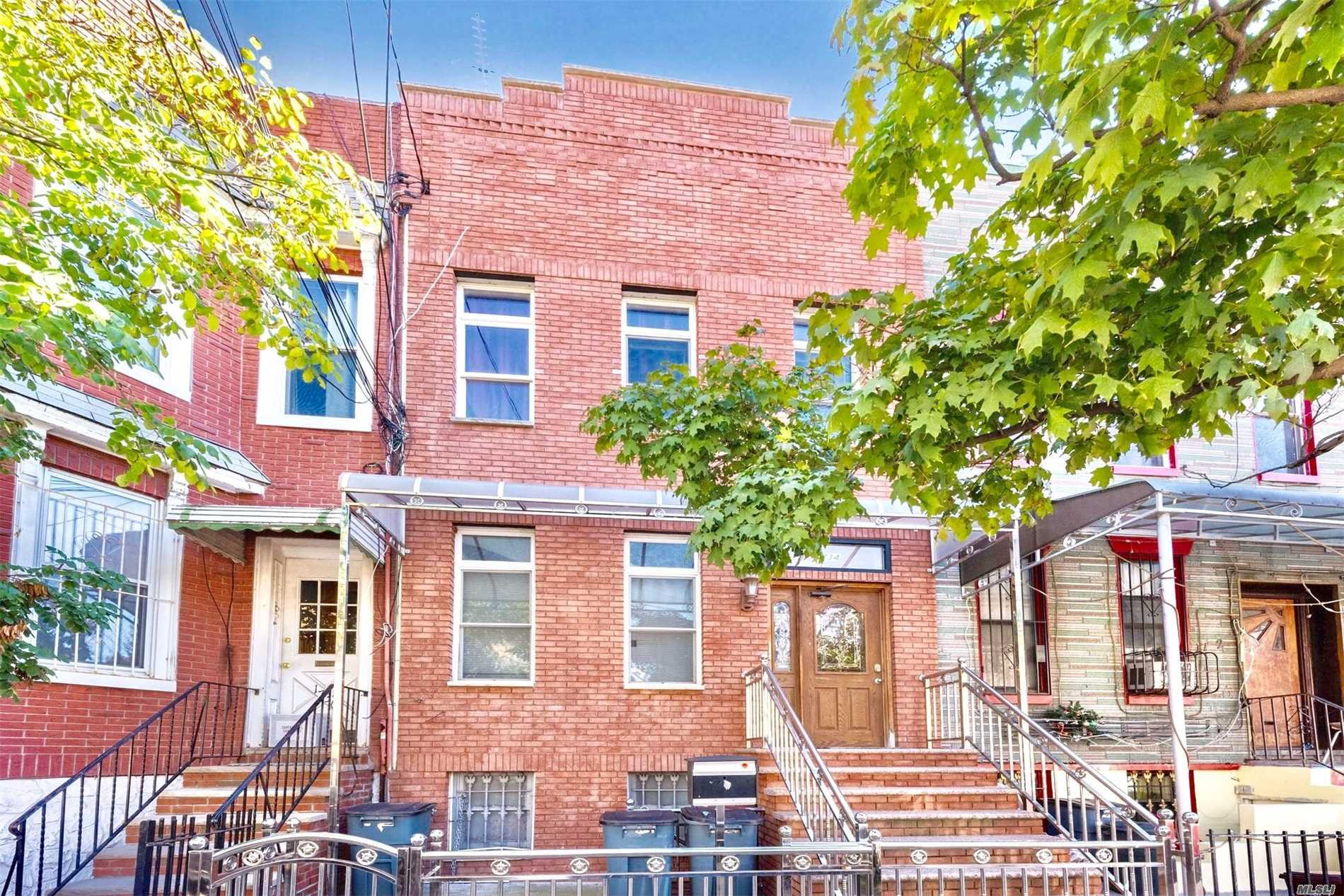 Two Family House In The Exclusive Area Of Ridgewood Near All Transportation, Close To Subway L Train Supermarkets. This Home Boast Seven Bedrooms, Living Room, Formal Dining Rm, & Five Bath's, Hardwood Floors, Throughout The Home, Finished Basement, Central A/C The House Has Been Totally Renovated !