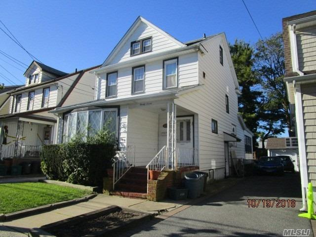 Colonial With 4 Bedrooms 2 Kitchens, Full Basement. Near Transportation, Partially Occupied. First Floor Needs Rehab. Lots Of Potential.
