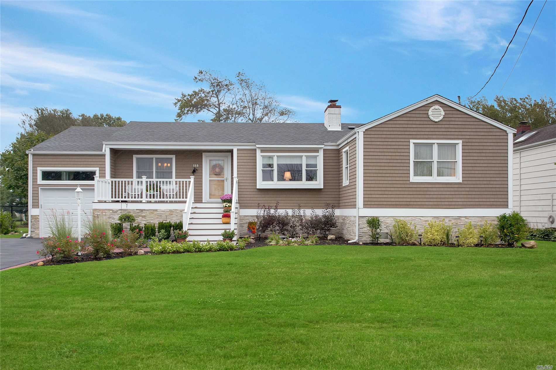 Charming, Raised & Renovated C-H Ranch On 90' x 150' Landscaped Lot w/2, 066 Sf in Sequams Colony w/Assoc Docking. Ef, Lr w/Fpl, Fdr, Eik, Den w/Sliders to Deck, Mbr w/WIC & Fbth, 2nd Br, 3rd Br, Full Bath. Laundry Rm w/Half Bath. 1-C Att Garage w/Interior Access. House was Raised After Sandy w/New Vinyl Siding, Windows, Kitchen & Baths. Flood Insurance Is $550/Year. House Is Much Larger Than It Appears from the Front.