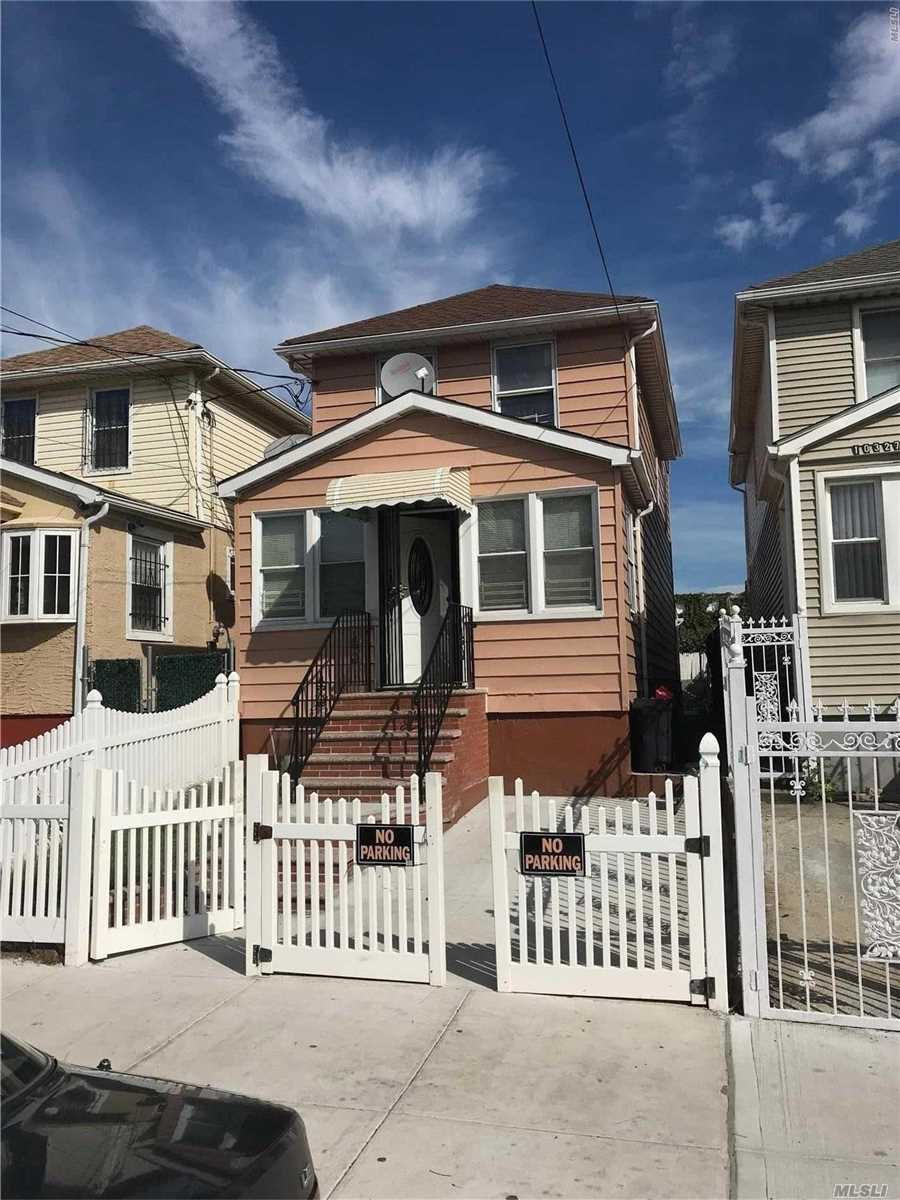 1-Family Detached Home With Private Driveway, 1st Floor Formal Living Room, Formal Dining Room, Full Bath, Kitchen, 2nd Floor, 3-Bedrooms And Full Bath, Full Basement, 1/2 Block From Q42 Bus, 5-Mins Away From E, F And J Trains.