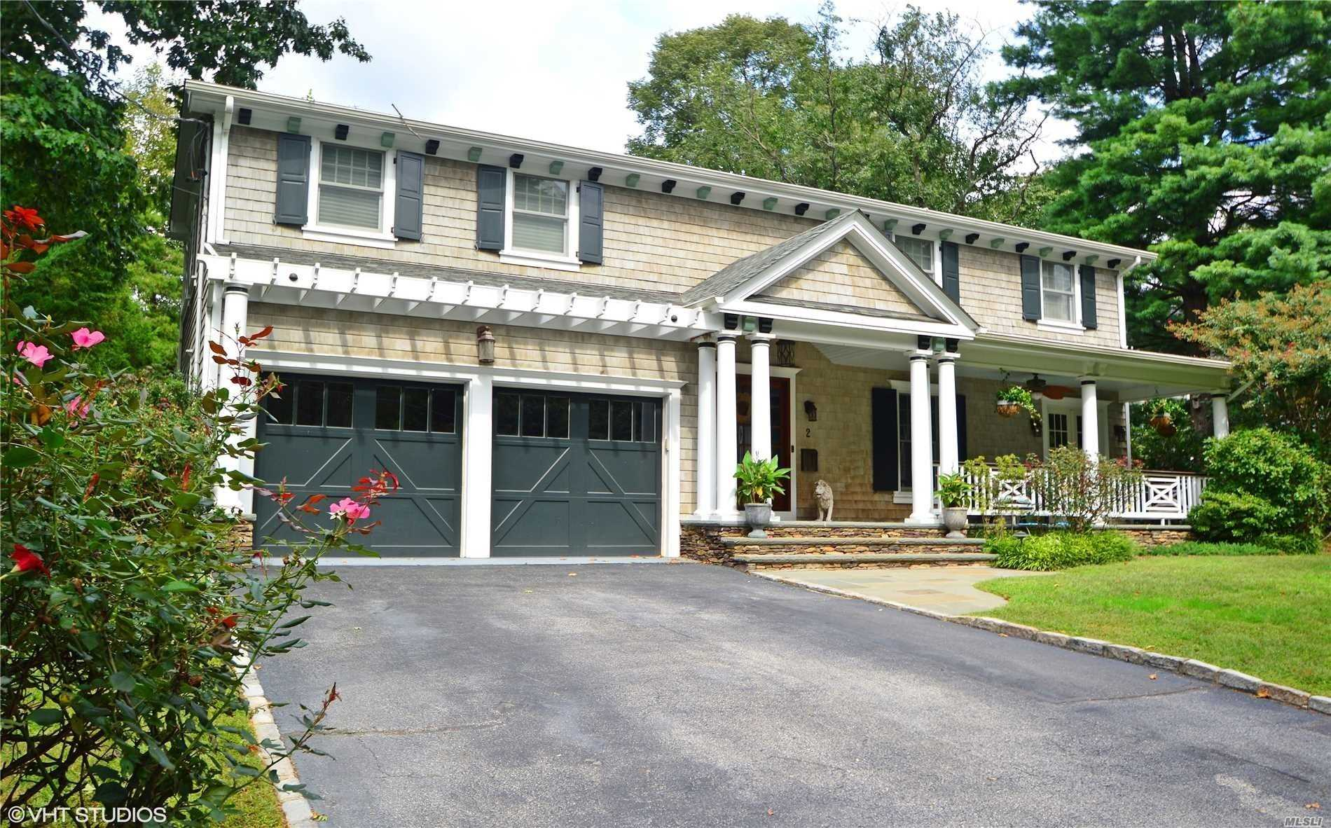 Beautiful Cedar Shingle Colonial On 1/3 Of A Acre In Most Desirable Sea Cliff Location.Front And Back Porches, Extensive Upscale Landscaping & Masonry Work.Salt Water Pool With New Liner.Premium Interior Finishes.Lodge Like Den W/Rustic Stone Fireplace And Vintage Eat In Kitchen.Formal Dining Room And Living Room.Luxurious Master Suite.Large Fully Finished Basement, Cac, In Ground Sprinklers.