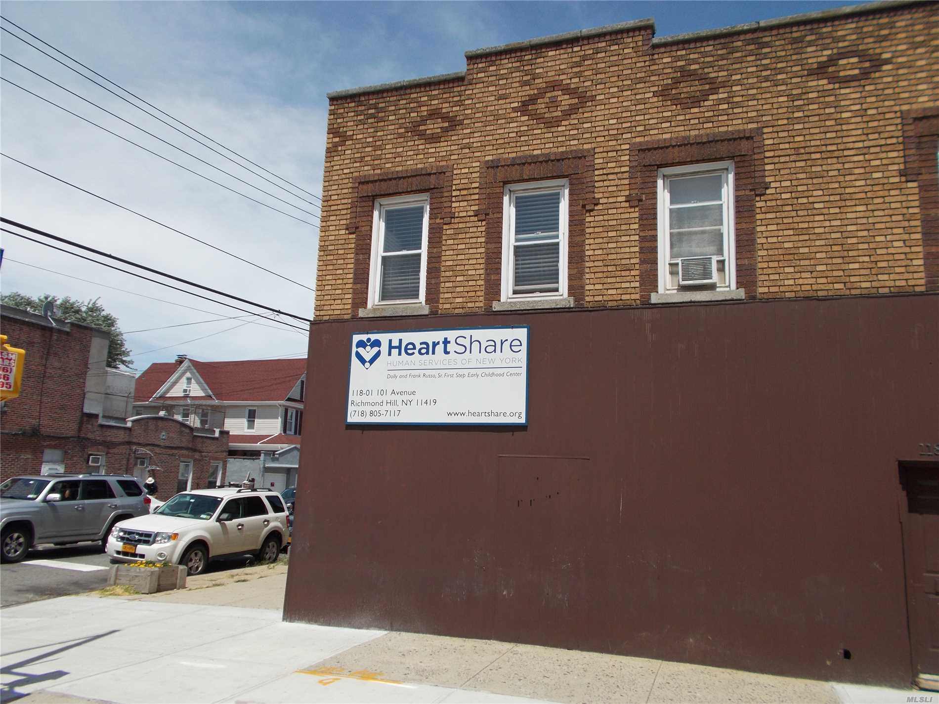 Semi-Detached Brick Mixed Use Building First Floor Is Rented Presently To School (No Lease) Second Floor Has Two 3 Room Apartments (No Leases).