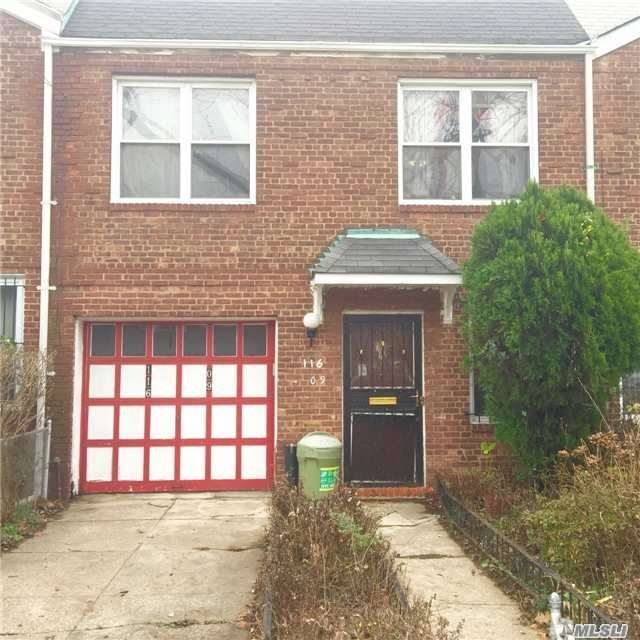 Opportunity Is Knocking!!! This Brick, 2 Family Attached Colonial Is Nestled On A Quiet Block. It Features A Full Basement, Rear Deck, 2 Kitchens, 2 Living Rooms, A Total Of 3 Bedrooms And 2 Full Baths. This Property Has A Private Driveway With An Attached Garage. Conveniently Located Near Public Transportation, Schools And Shopping Areas.
