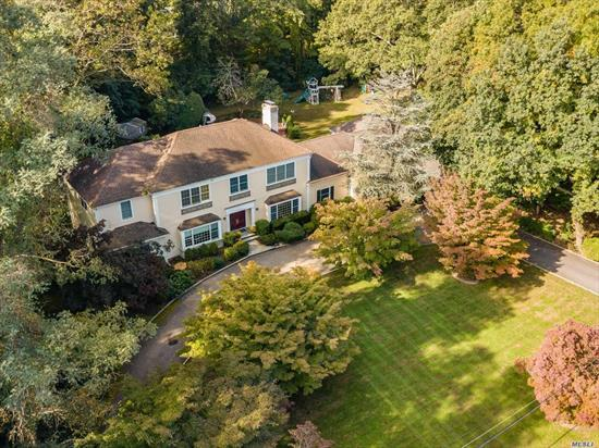 Completely Renovated Colonial With In-Ground Heated Pool Situated On Over 2 Acres Of Manicured Property In The Prestigious Town Of Old Brookville. High Ceiling, 2 Master Bedroom Suites, Big Open Kitchen With Separate Breakfast Area And Glass Door Open To The Back Yard And Pool. With 3 Bedrooms On Each Floor, It Is Ideally For A Big Family Or Multiple Generation.