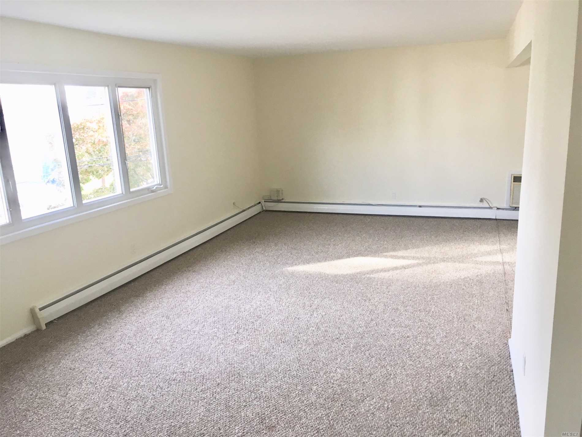 Rental: 2 Bed, 1 Bath Apartment With Large Living Room, Dining Room And Eat In Kitchen. This Apartment Is On The 2nd Floor Of A Private House. Plenty Of Closet Space, Wall To Wall Carpeting. Tenant Pays Own Electric, Cooking Gas, Cable & Renter Ins . Includes 1 Park Spot. No Pets, No Smoking,  No Subletting. Walk 1 Block To The Gibson Lirr Station. Close To Shopping.