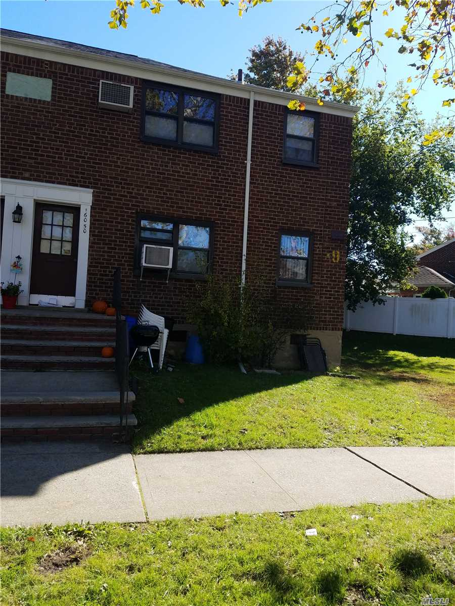 This Is A 1 Bedroom Lower Corner. Features Windows All Around The Place, Hardwood Floors, Ceiling Fan, Washer, New A/C And Refrigator. Located With Nice Side Yard For Out Door Use. Near Stores And Buses.