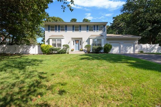 Welcome To This Lovely Center Hall Colonial At The End Of A Cul-De-Sac Featuring Open Concept, Crown Moldings, Updated Bath, Many Hardwood Floors, 4 Bedrooms, 2.5 Baths, Master Suite With Walk-In-Closet, Family Room Fireplace, Cac, Gas Heat, Igp, Great House! Come See!