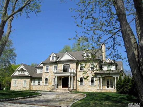 Dream Home Right Out Of Architectural Digest... Magnificent And Immaculate 7 Bedroom Stone Colonial. 2 Story Entry Foyer, Open Gourmet Kitchen, Flr, Fdr, Den, Office. High Ceilings And Moldings Throughout. Huge Master Suite Plus 6 Bedrooms All With Ensuite Baths And Walk In Closets. Full Floor Basement And Attic With High Ceilings. Circular Driveway. Heated Ig Pool.
