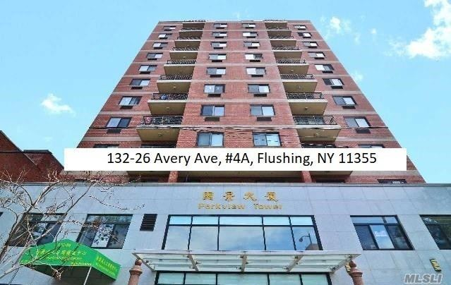 Parkview Tower Is A 40 Unit Luxury Condominium With Elevator In Prime Location In The Heart Of Flushing On A Quiet Residential Street That Is Minutes Away From Main St Shopping Area And Public Transportation. Apartment 4A Is A Bright Well-Maintained 2 Bedroom With 2 Full Baths Condo In Move-In Condition With A Living Room Balcony, Hardwood Floors Throughout.With Doorman Onsite, Laundry In Building, Low Common Charge $296/Monthly & 5.5 Year Tax Abatement Left.Parking Spot Can Be Rented $200/Month