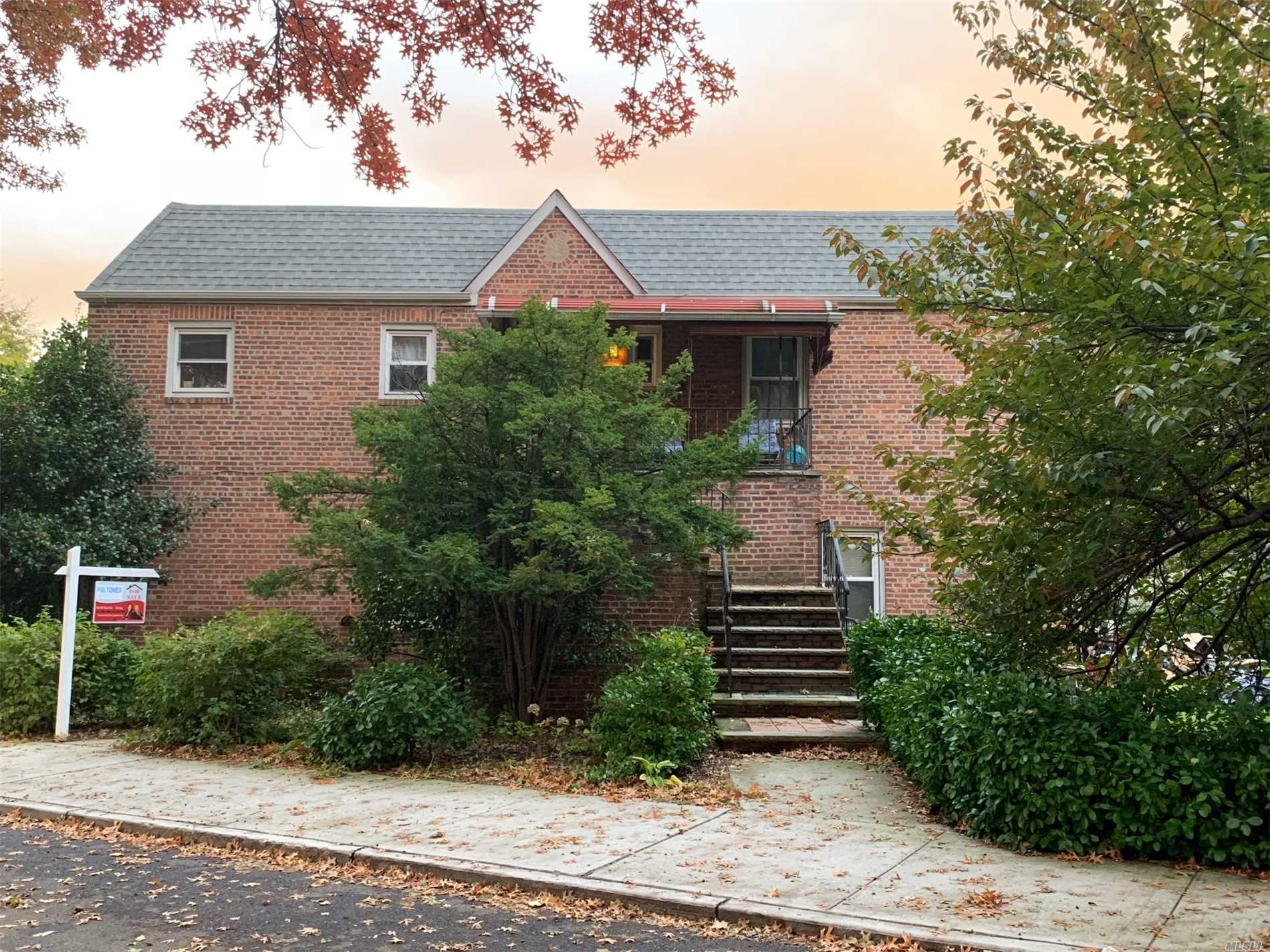 This Legal 2 Family Is Situated On A Corner Lot,  Two Bedroom Over Two Bedroom, Building Size 22X46 Walking Distance To Schools, Worship Centers, Close To E, R Train And Lirr Easy Access To Major Highways. Must See!