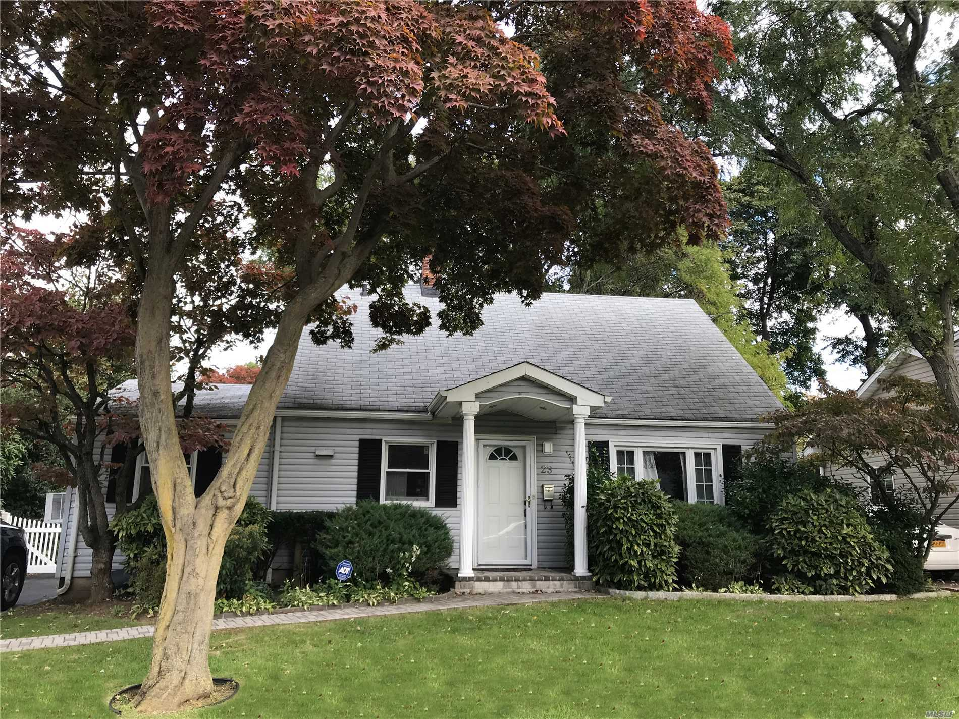 Lovely, Renovated, Charming Home With Lots Of Curb Appeal On A Tree Lined Street. Updated Windows, Doors, Baths, Eik With Sliding Glass Doors That Lead To Over-Sized Deck & Lovely Fenced In Property .Mid Block Location. Large Garage. New Oil Burner & Hot Water Heater. Taxes Have Been Successfully Grieved 16.9%.!