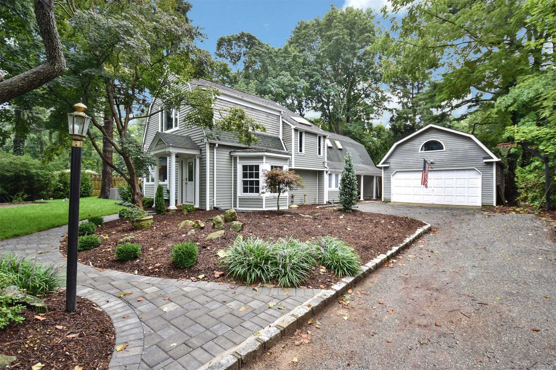 Fabulous 3/4 Bedroom Colonial Is Situated In A Private 1/2 Acre Oasis. This Home Has Been Recently Renovated With A Chefs Kitchen That Includes Top Of The Line Thermador Stainless Steel Appliances Includes 6 Burner Gas Stove Custom Cabinets, Farm Sink, Open Floor Plan To The Family Room. New Baths, Outdoors, Enjoy A Beautiful Landscape And Built In Pool. Just A Stroll To Huntington Village! Minutes From Csh Train And Parkways. Artist Studio