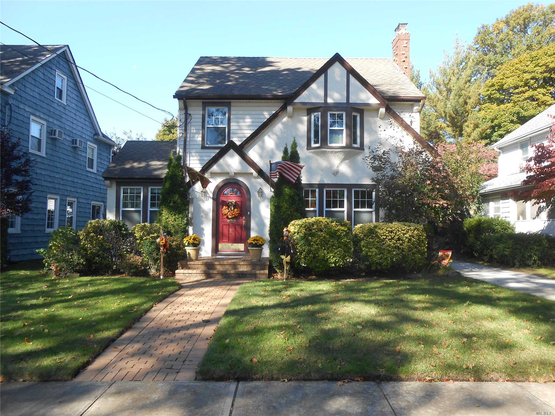 Price Reduction On This Beautiful Tudor Home On A Tree Lined Cul De Sac. Award Winning Rvc School District. Lrge Eik & Formal Dining Rm. Hwd Floors. 4 Ductless Ac's, Baseboard Heating On 1st Floor And Working Fireplace. Top Floor Has Bdrm With Full Bath. Full Finished Basement! Great Size Fenced In Yard With Deck. 2 Car Detached Garage. With New Assessment And Tax Grievance, Property Taxes Will Decrease! Expecting A 13% - 16% Reduction. Move Right In And Make This Your New Home Today!