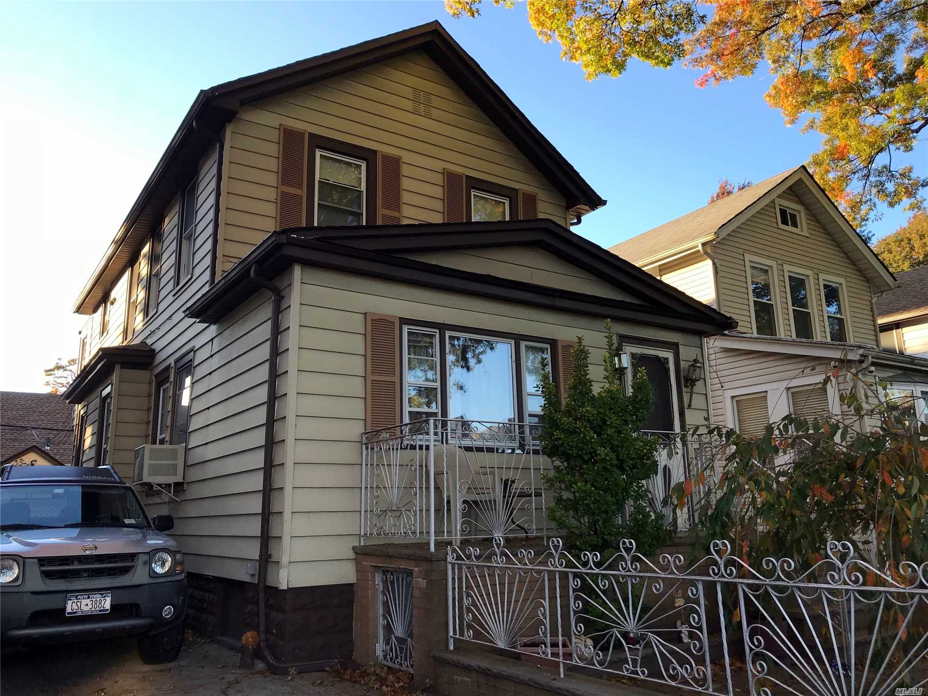 Extended 2 Family House Located 1 Block Away From Northern Blvd/10 Min.Walking Distance From Lirr/ 3 Bedrooms On 1st Floor And Spacious 2 Bedrooms On 2 Fl.Of Appx Total 2000 Sf/ In Great Condition/Sustainable Low Tax