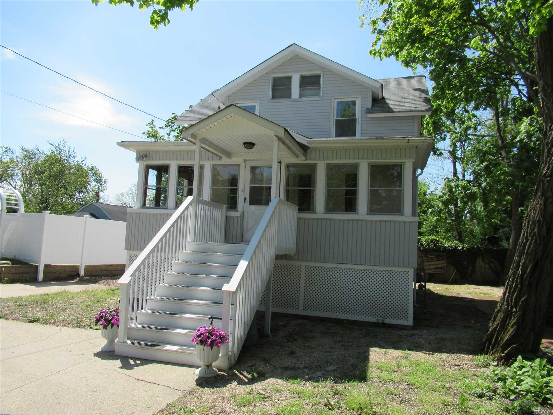 House Has Been Raised 7 Feet Via New York Rising, With Completely New Full Basement , Updated Siding. Windows And Utilities Up To Code , Enclosed Front Porch 10' X 20 ' ,  An Adorable Cottage With Many Possibilities. Locust Valley School District.