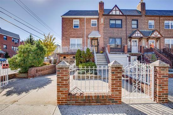 Pristine Well Maintained Semidetached Solid Brick Legal Two Family With Great Curb Appeal Perfectly Positioned On The Corner Of 43rd St And 25th Ave In Astoria Nearby Shopping And Public Transportation( R Subway Station). This Home  Boasts Custom Crafted Oak Doors, Hardwood Floors, Private Driveway, Garage, Front Porch And Rear Patio.  Make This Your Home With Some Income Potential.