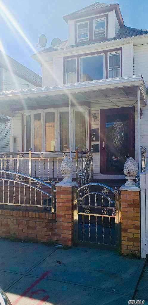 This Is A Very Spacious 1 Family Property. 5 Bedrooms & 3 Full Baths. All Hardwood Floors Throughout. Wide Shared Driveway And A 2 Car Garage. This Property Will Not Last. Ideal For A Large Family.