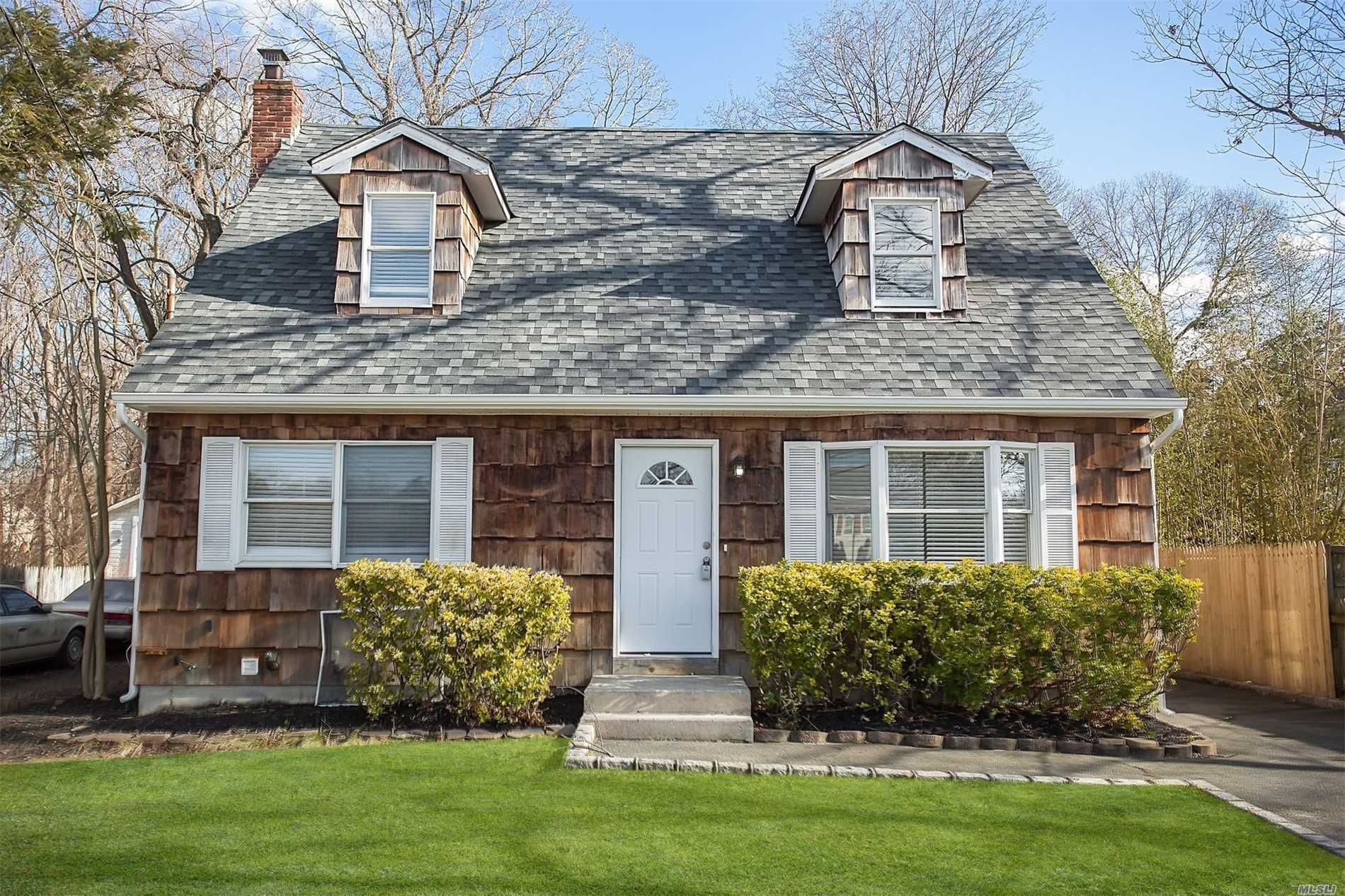Nice Updated Cape W/ Fresh Paint & Carpets, Renovated Kitchen & Bathrooms! A Clean Slate To Add Your Personal Touches! Suffolk County Living At Your Fingertips W/ Everything Close By! Come & See What This Home Has To Offer!