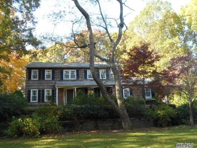 A New Year=a New Home! This 4 Br Colonial Was Built For Entertaining! Stately Library, Fdr, A Sun Drenched Gas Fired Gourmet Eik W/ Tons Of Counter Space/Storage, A Den W Wbfpl That's Enormous! 4 Brs W/ Mbr Suite, Cac, Igs, Room For Pool On An Acre Of Private Land In Kings Park Sd With Low Taxes, Close To Transportation & Beaches All Add Up To Make This Home Just Right! For You.
