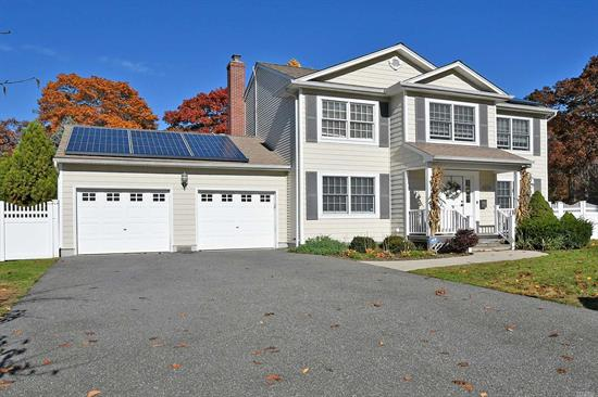 Beautiful 4 Bedroom, 2 1/2 Bath Central Hall Colonial. Magnificent Den With Fireplace And Crown Moldings. Freshly Painted Interior. Updated Eik With Granite, Hardwood Floors, Solar Panels. Fully Fenced In Yard Great For Entertaining With Large Trex Deck And Sun Shade.