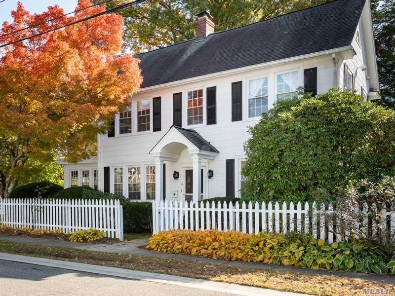 Charming 3 Bedroom Village Colonial In The Heart Of Locust Valley. This Stylish & Sophisticated Home Features Formal Dining Room, Living Room W/Fplc, Den, Country Kitchen With Updated Cabinetry & Stainless Steel Appliances, Mud Room & Powder Rm. Full Basement W/Laundry, Hardwood Floors Throughout, Beautiful Landscaped Yard & 2-Car Garage.