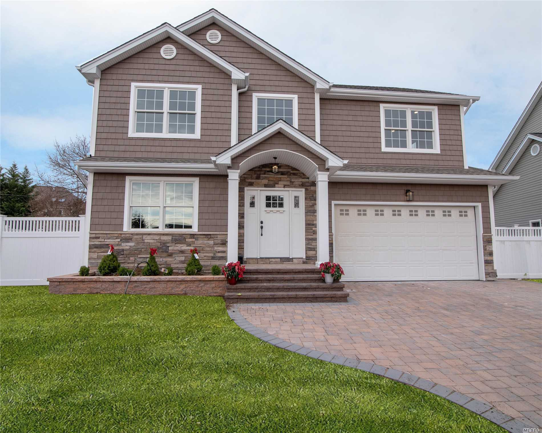 Time To Make Your Move Now!! This Brand New Ch Colonial Features A 2 Story Entry,  Open Flr Plan, Crown Moldings, Lr/Dr, Gourmet Eik With Custom Cabinet, Quartz Center Island, Den W/Fpl, 2 Car-Garage, Full Finished Basement, Outside Entrance, Large Mstr Suite W/Designer Baths And 3 Additional Bed, F/Bth.