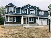 Prime N. Bellmore Loc. Time To Customize! Giant 3600 Sq Ft Ctr Hall Colonial W/ 2-Car Gar, 5 Bdrms, 2.5 Fbths, & Bluestone Porch To-Be-Built On Enormous 10K Sq Ft Lot! Steel Beams Used Across Foundation For Wide Open Bsmt. Anderson Wdws, Gorgeous Trim Work Throughout, Custom Wood Cabinetry/Vanities W/ Granite Ctops, Ss Prof Appls. Oversized 80X130 Lot!!