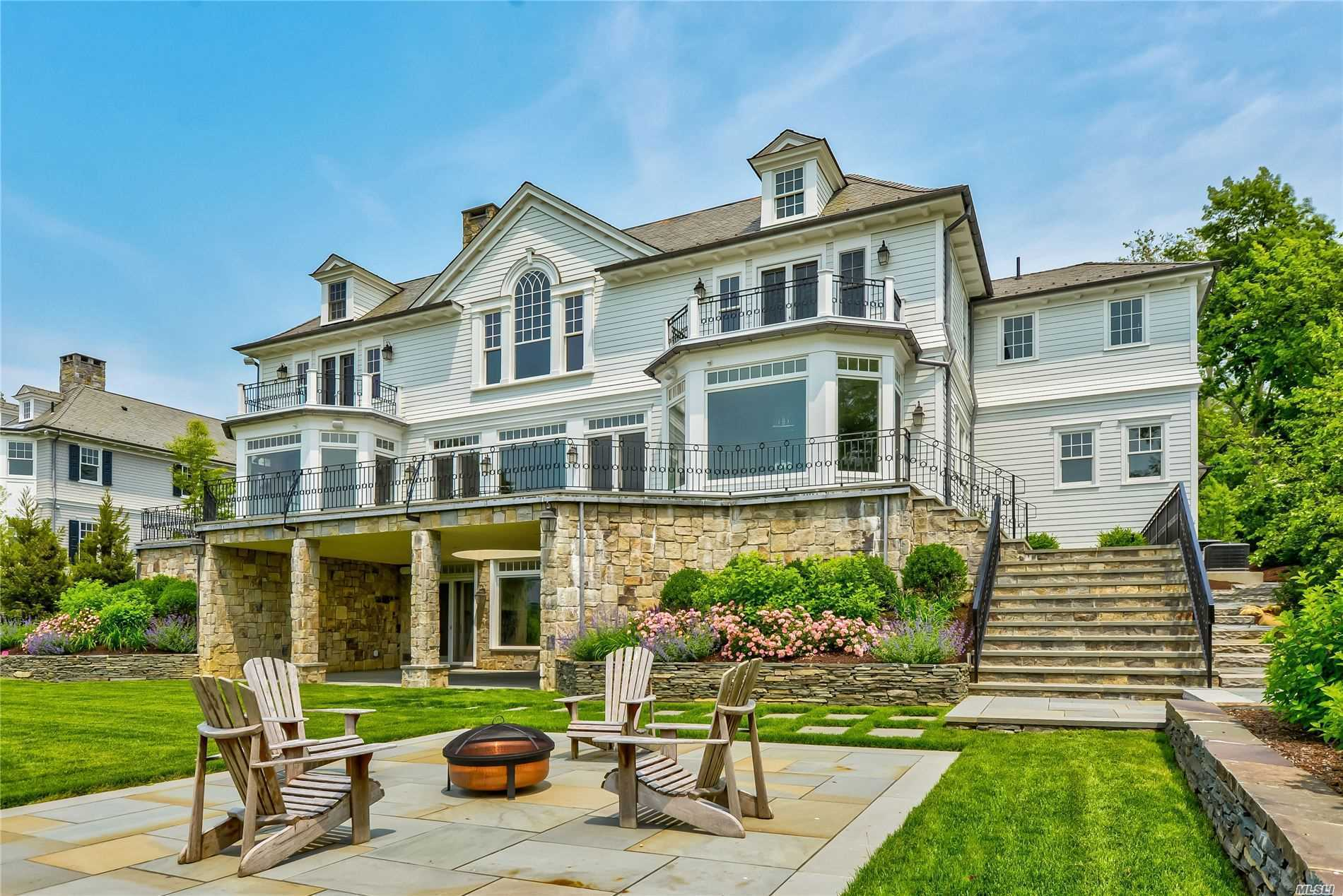 Newly Designed And Built This Connecticut Stone And Ship-Lap Center Hall Colonial, Situated On A Private Road In Plandome Over Looks Manhasset Bay With Year Round Sunsets. Offers 6 Bedrooms, 5 Full Baths, 3 1/2 Baths. School District 6. Convenient To Train And Shopping. Dock Permit Secured.