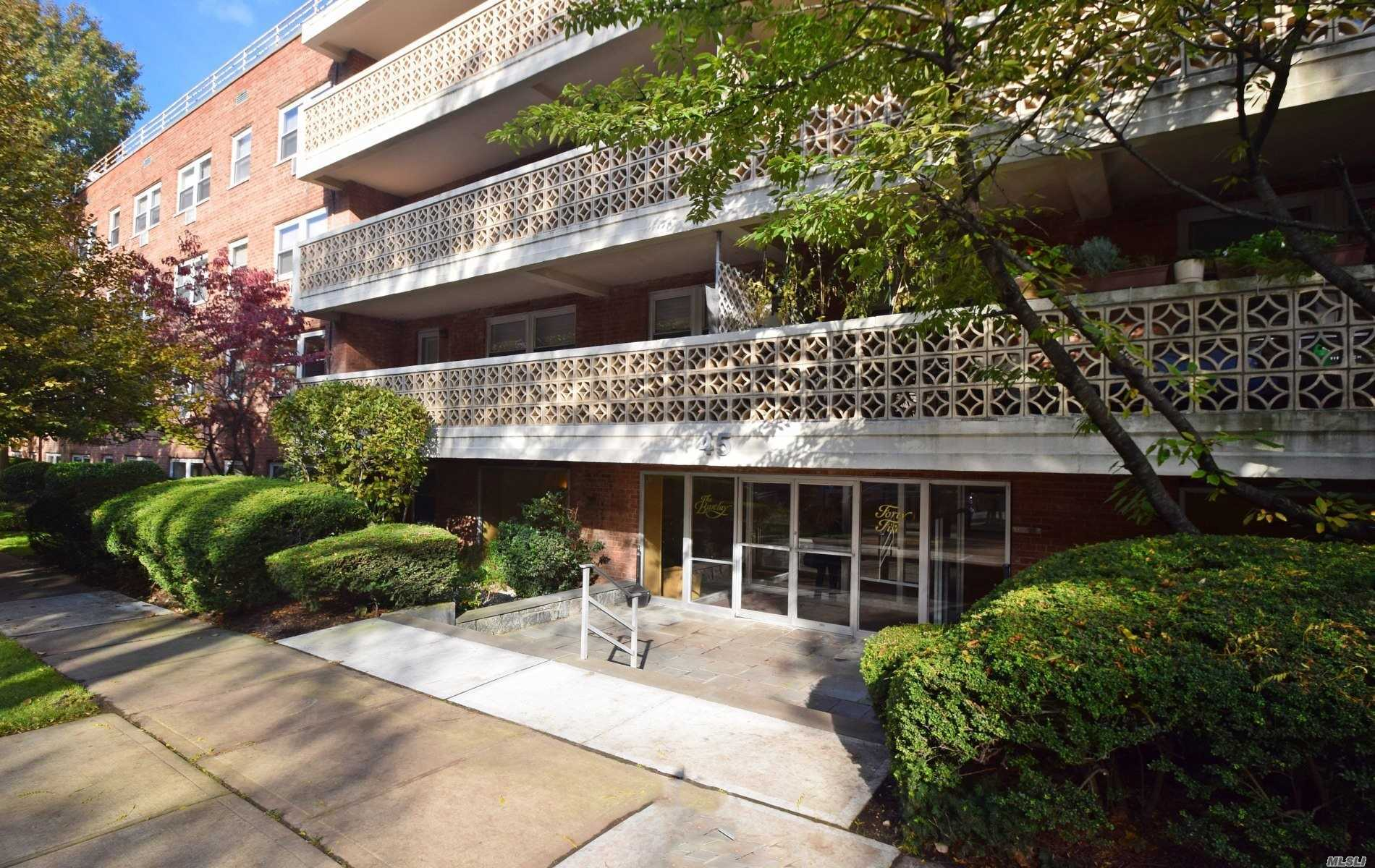 Spacious, Bright And Renovated Studio Which Can Be Converted To A 1 Bedroom. L Shaped Living Room/Alcove Area, Dining Area Plus Eat-In-Kitchen, Living Room And Bath.  Three Closets - Two Are Very Large. Freshly Painted, Ready To Move Right In! Short Wait List To Park. Three Blocks From The Lirr.  Building Has Its Own Generator And New Laundry Room.