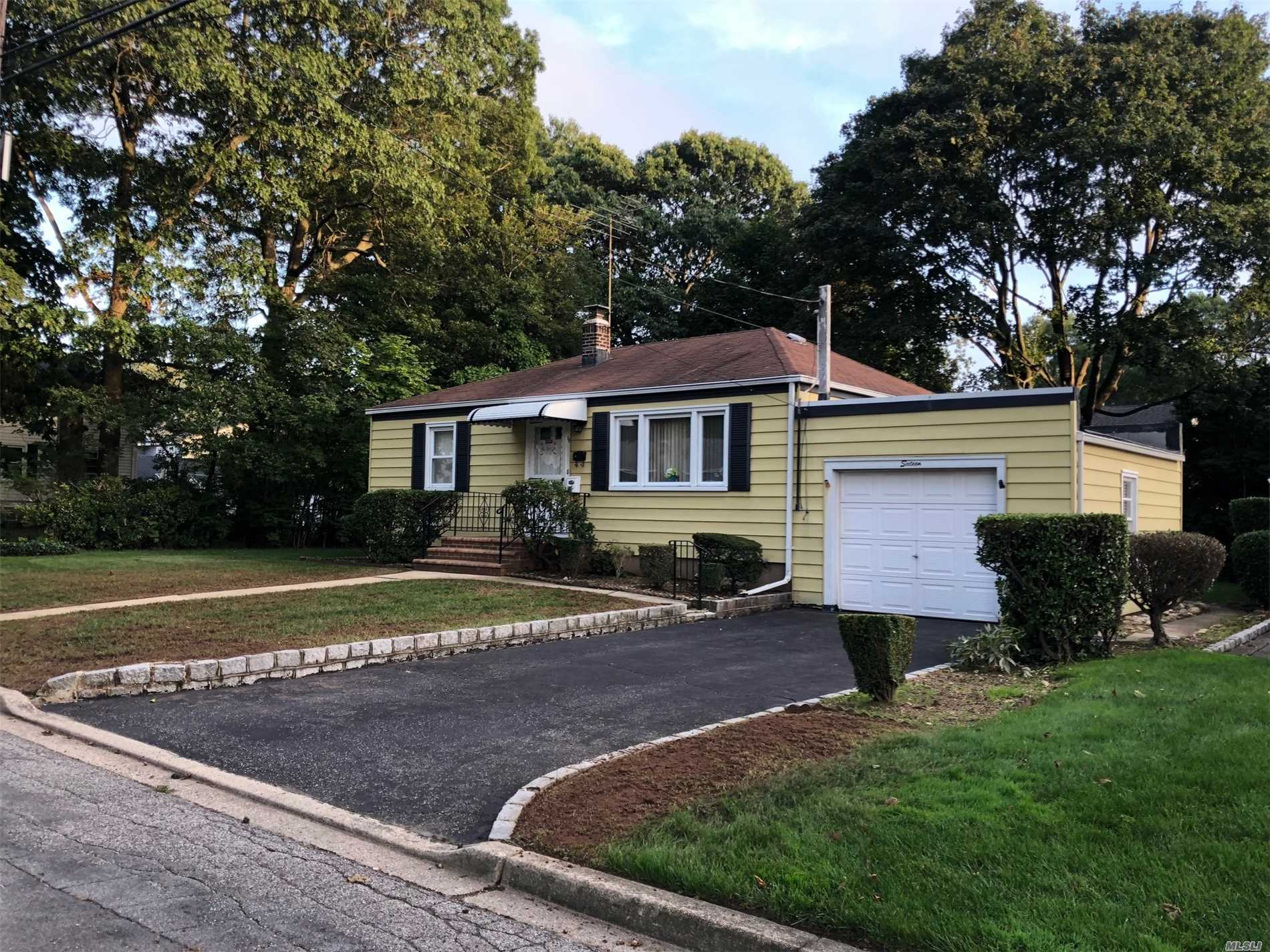 Cute And Cozy Ranch In Massapequa Woods! Large Lot On Beautiful Tree Lined Street! Close To Lirr And Shopping! Great Potential!