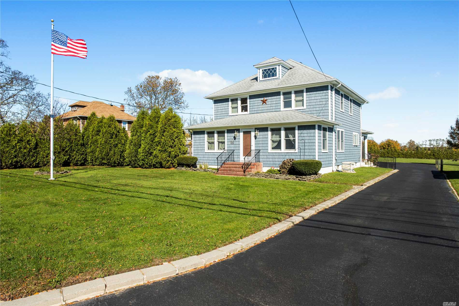 Completely Renovated 1930 Farm House On 1 1/4 Acres In The Heart Of Cutchogue. All Large Rooms. Hardwood Floors Throughout. Formal Living Room With Fireplace, Finished Walk Up Attic, Gorgeous New Kitchen. Anderson Windows. Detached 2 1/2 Car Garage With Loft