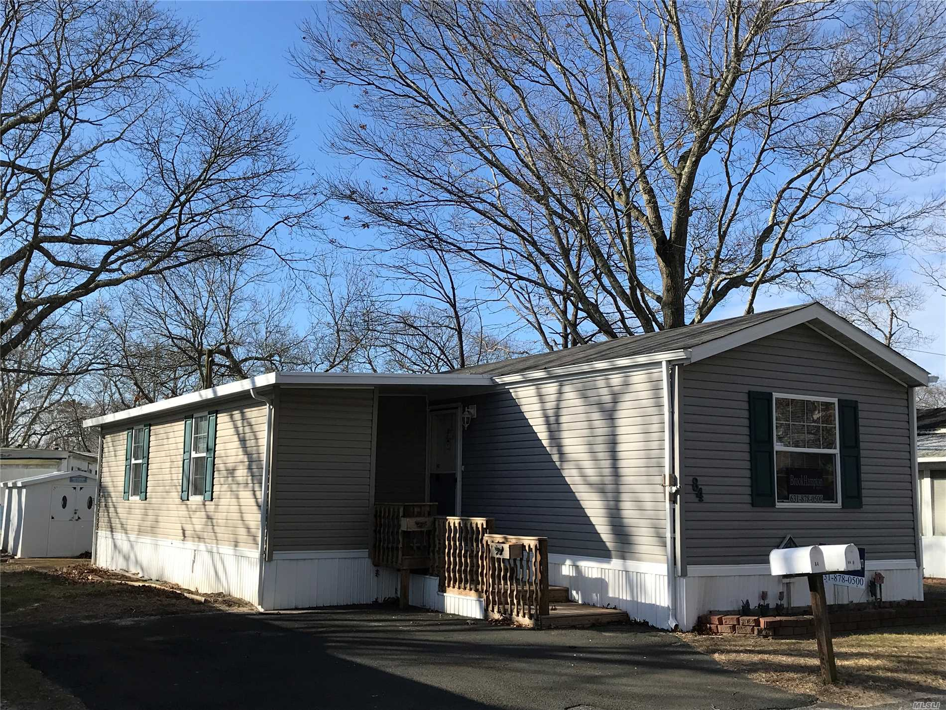 Spacious 2 Bedroom 1.5 Bath Modular Home In 55+ Community. This 2003 Home Features An Addition With Den/Dining Or Possible 3rd Bedroom, 2 Parking Spaces, Shed, Large Eik With Skylight And Lots Of Closet Space. Propane Heat, Cac, Furnishings Included! Move Right In! Monthly Fee $688.