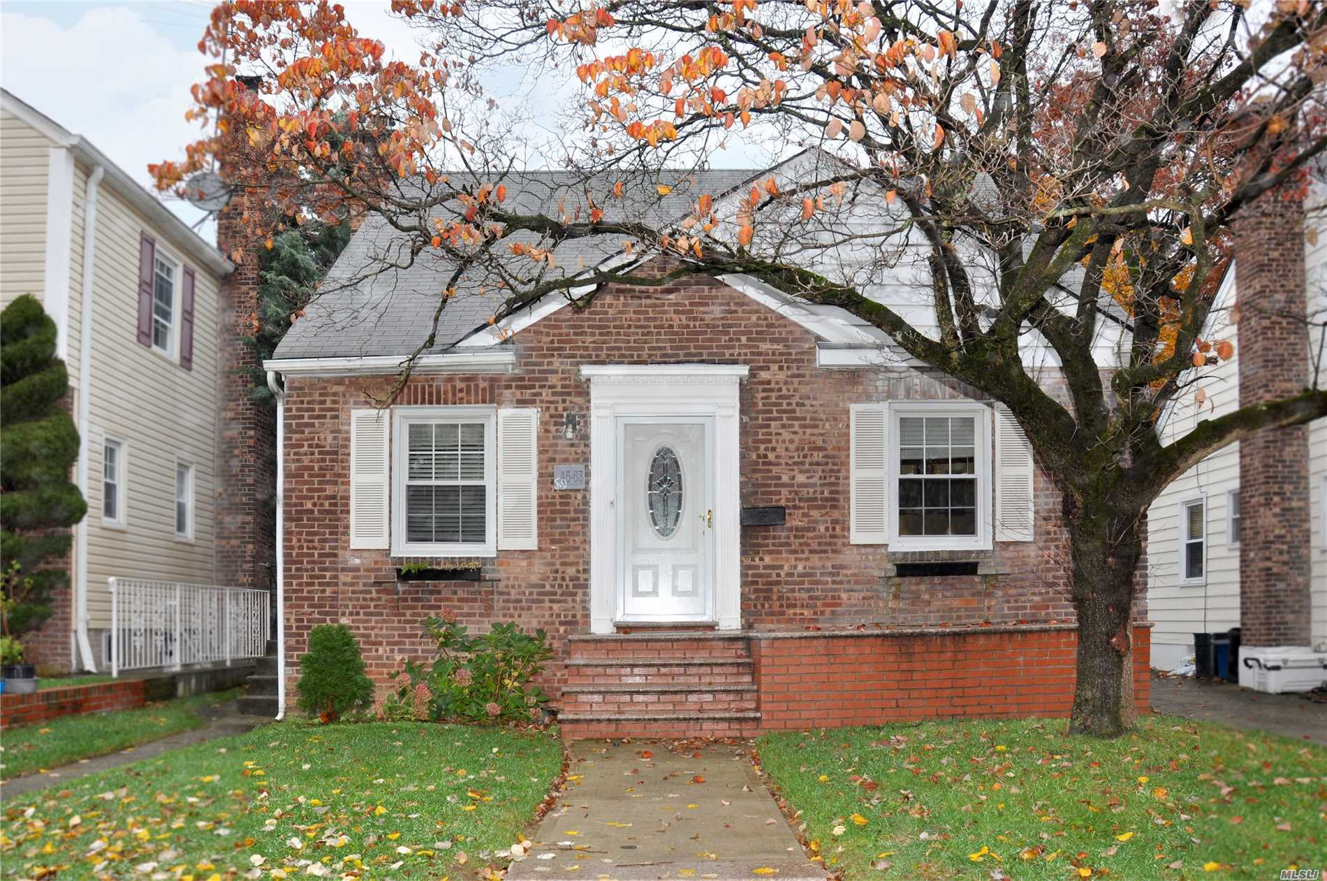Nicely Renovated Cape On A Quiet, Tree-Lined Street In Beautiful Auburndale. House Features Five Bedrooms, Two Full Baths And A Finished Basement With Separate Outside Entrance. Great 40X100 Property With Private Driveway And Garage. Convenient Location Close To Shops & Transportation. Amazing School District #26.