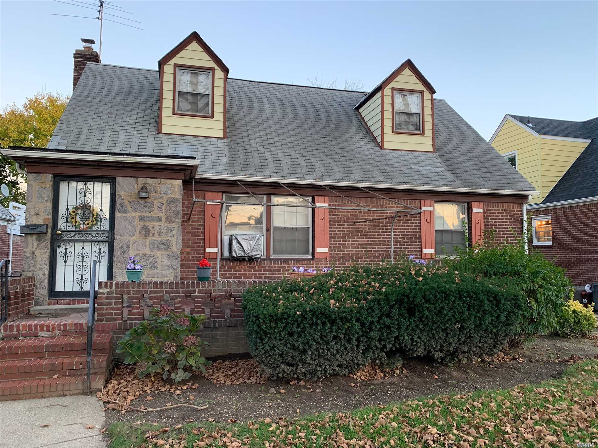Cape Code Ready To Be Sold With Master Br On The First Floor. The Property Has Original Wood Floors Under Carpet,
