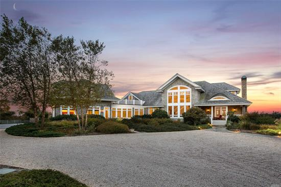 Beautiful Waterfront Estate On 9.25 Gated Acres And Surrounded By More Preserved Land. 70 Miles From Nyc And 1.5 From Bellport Village. This Over 7000 Square Foot, 4 Bedroom Custom Built Home Is Exquisite. No Detail Has Been Over Looked. Relax By The Pool And Watch The Sunset Over The Great South Bay Or Kayak To Fire Island. Whatever You Decide, You Know As Soon As You Enter Turtle Bay You Will Unwind And Relax.