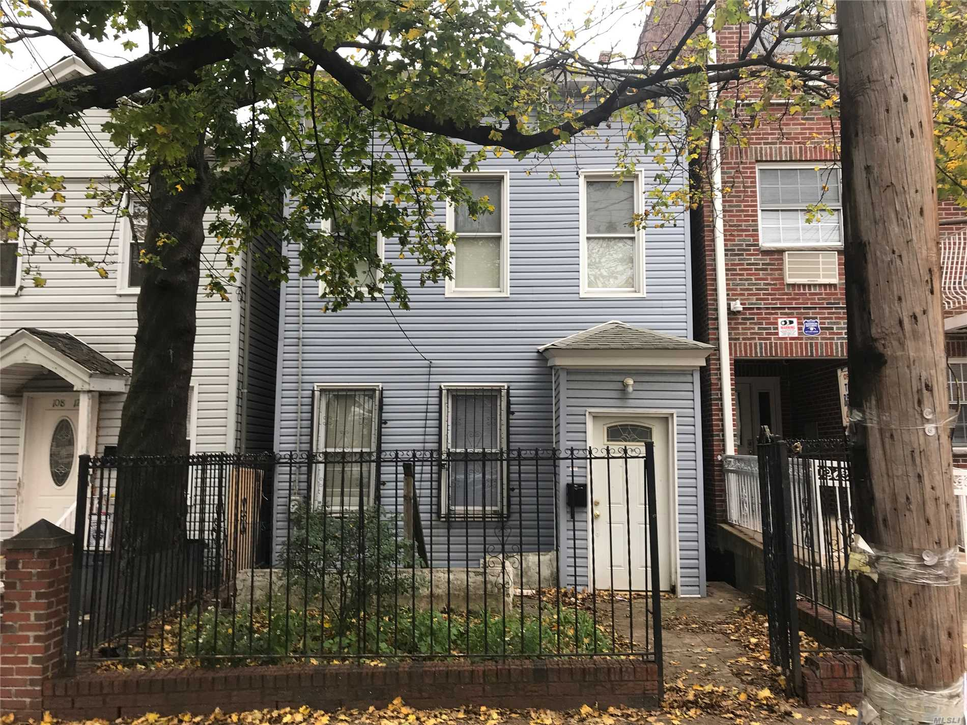 Very Good House. Had A Broken Water Pipe Damage, But Not Too Bad. Was Completely Renovated And I Mean Completely! Fix It Up As A House Or Knock It Down And Build Line To Line, 3.000 Sq. Ft. Two Family.....Check With Architect....Looks Great!!!!