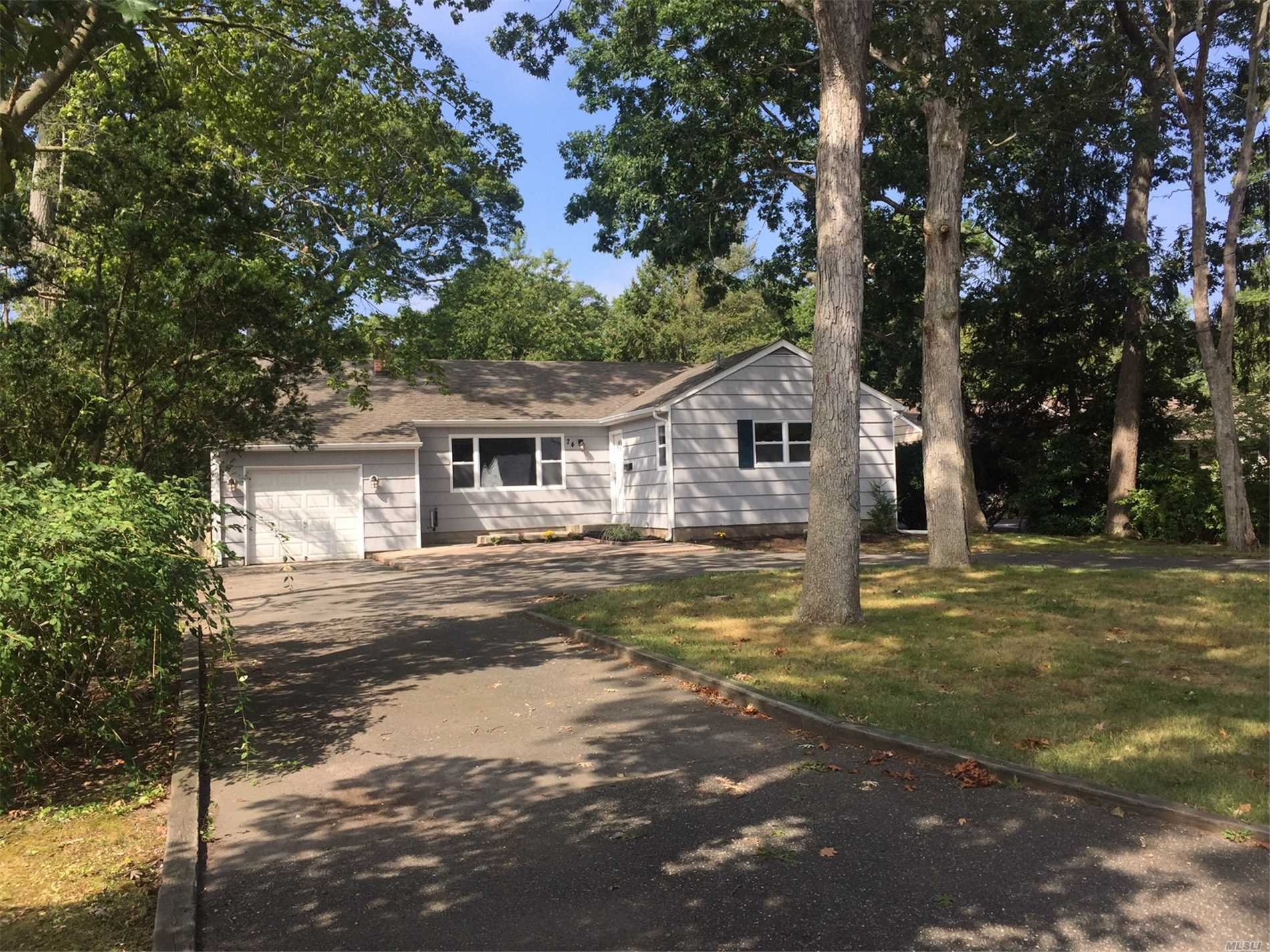 Totally Renovated Ranch In Prime South Of Montauk Location, All New Windows, New Bath(S), New Kitchen, New Oil Heating System, New Oil Tank..Freshly Painted And Ready To Go. Great East Islip School District. Circular Driveway With Oversized Garage.
