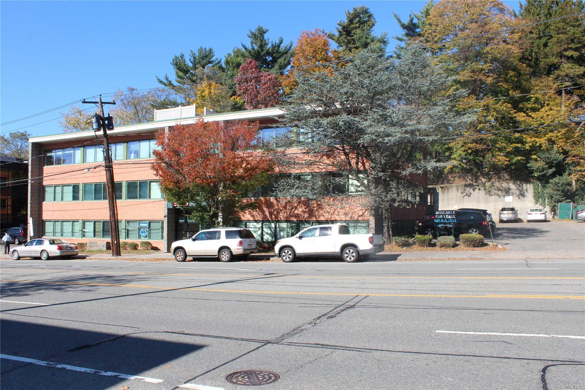 Queens/Nassau Border! Spaces Available In Prestige Elevator Building With Great Visibility, In Prime Location On Northern Blvd In Great Neck. The Property Offers 24/7 Security Camera, Indoor Reserved Parking For Tenants And Covered Parking For Visitors. Possibility Of Small Office Units Build To Suit. Ample Street Parking. Close To Ground Transportation, Lirr, And Major Highways. Other Units May Be Available In Adjoining Properties.